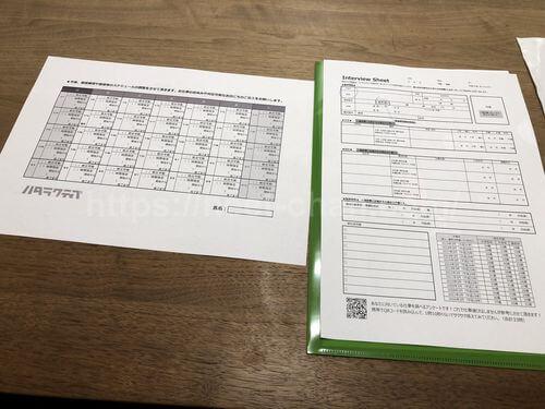 ハタラクティブで記入する書類一式